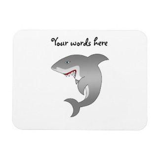 Great white shark vinyl magnet