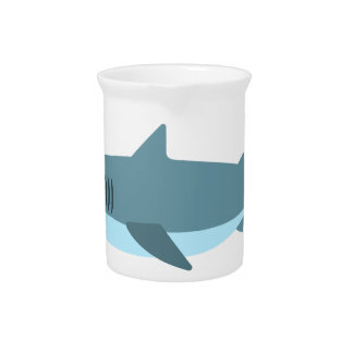 Great White Shark Primitive Style Beverage Pitcher