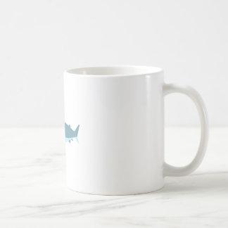Great White Shark Primitive Style Coffee Mug