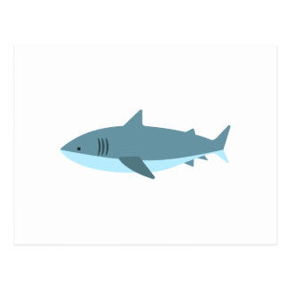 Great White Shark Primitive Style Postcard