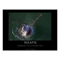 "Great White Shark ""Relapse"" Poster"