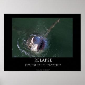 """Great White Shark """"Relapse"""" Poster"""