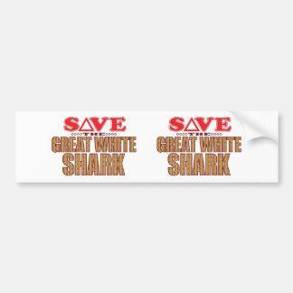 Great White Shark Save Bumper Sticker