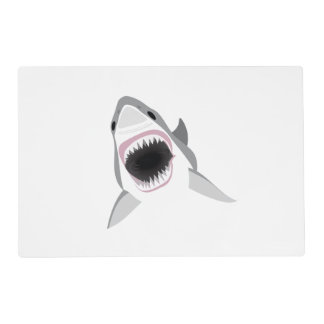 Great White Shark - Shark Attack Laminated Place Mat