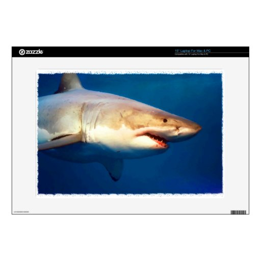 """Great White Shark Skin For 15"""" Laptop"""