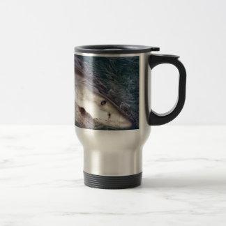 Great white shark spy hopping 15 oz stainless steel travel mug