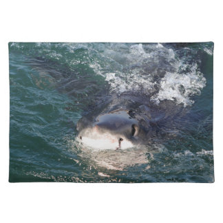 Great white shark spy hopping placemat