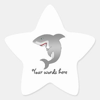 Great white shark star sticker