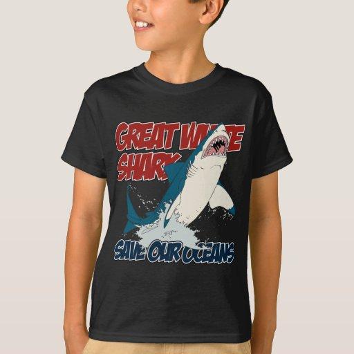 Great white shark t shirt zazzle for Good white t shirts