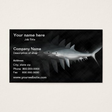 Professional Business Great White Shark Template Business Card