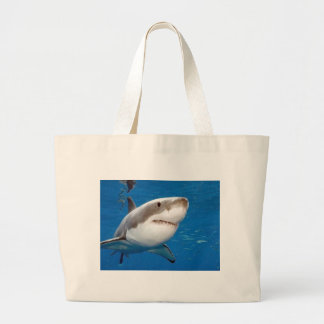 Great White Shark Tote Bags