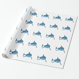 shark wrapping paper zazzle great white shark wrapping paper