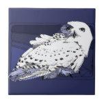 Great White Snowy Owl Ceramic Tiles
