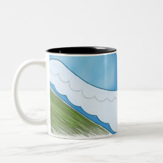 Great Wide Two-Tone Coffee Mug