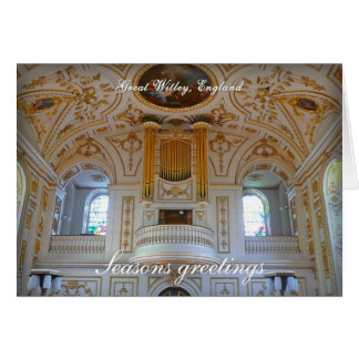 Great Witley organ, UK Cards