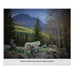 Great Wolf of the Rocky Mountains Print