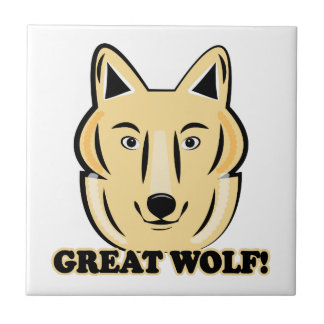 Great Wolf Ceramic Tiles