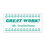 """[ Thumbnail: """"Great Work!"""" Assignment Marking Rubber Stamp ]"""