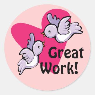 Great Work Reward Stickers