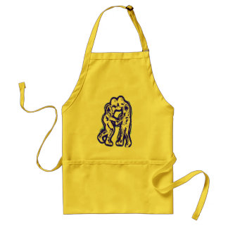 GREAT WRESTLERS ADULT APRON