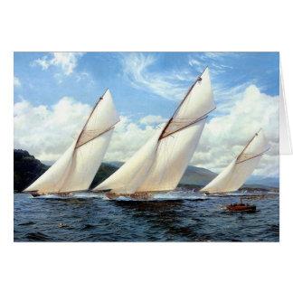 Great yacht race card