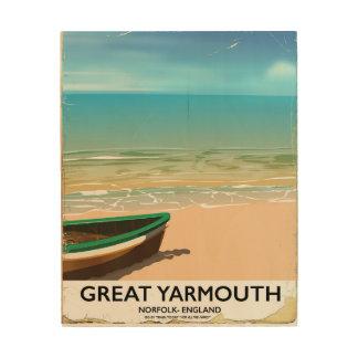 Great Yarmouth, Norfolk, Seaside travel poster