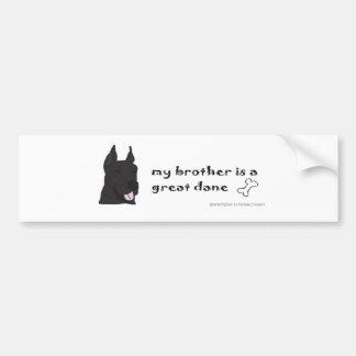 GreatDaneBlackBrother Bumper Sticker