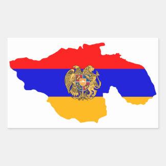 Greater Armenia Map Flag Rectangular Sticker