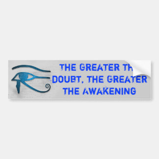 Greater Awakening bumper sticker Car Bumper Sticker