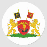 Greater Brussels, Belgium Round Stickers