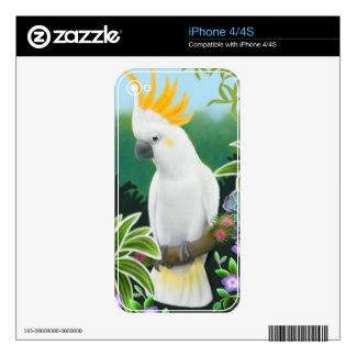 Greater Citron Crested Cockatoo Zazzle Skin Decal For The iPhone 4
