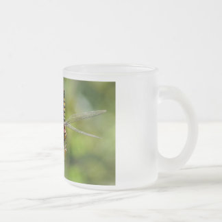 Greater Crimson Glider Dragonfly Frosted Glass Coffee Mug