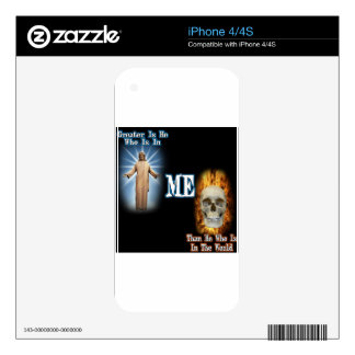 Greater is He Decals For The iPhone 4S