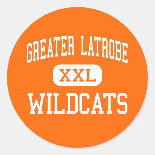 Greater Latrobe - Wildcats - High - Latrobe Classic Round Sticker