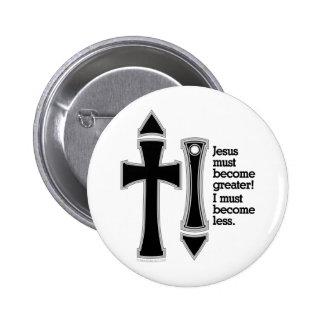 Greater-Less John 3-30-B Pinback Button
