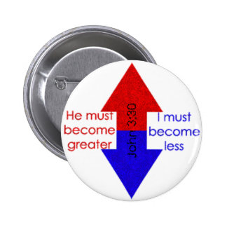 Greater...Lesser Pinback Button