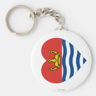 Greater London Flag Heart Basic Round Button Keychain