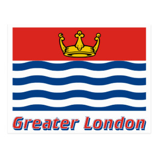 Greater London Flag with Name Postcard