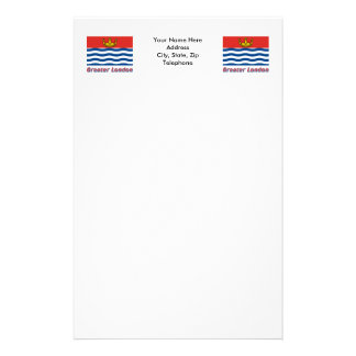 Greater London Flag with Name Stationery