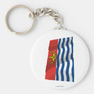 Greater London Waving Flag Basic Round Button Keychain