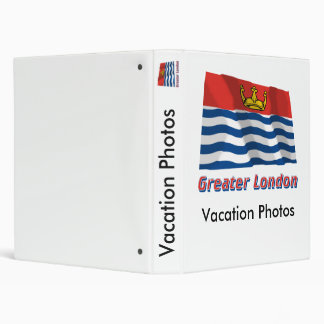 Greater London Waving Flag with Name Binder