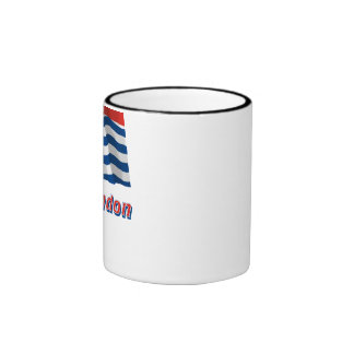 Greater London Waving Flag with Name Ringer Mug