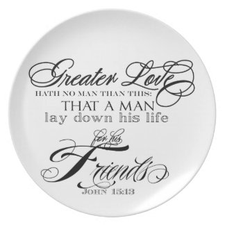 Greater Love Melamine Plate