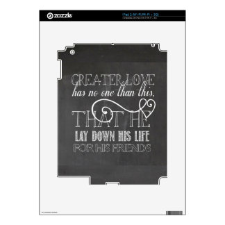 Greater Love Scripture Gift Decals For iPad 2