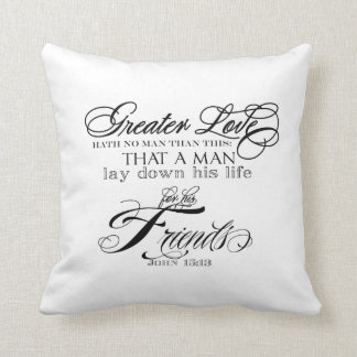 Greater Love Throw Pillow