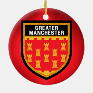 Greater Manchester Flag Ceramic Ornament