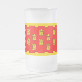 Greater Manchester Flag  Frosted Glass Beer Mug