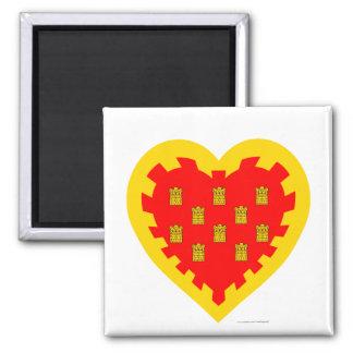 Greater Manchester Flag Heart  Magnet