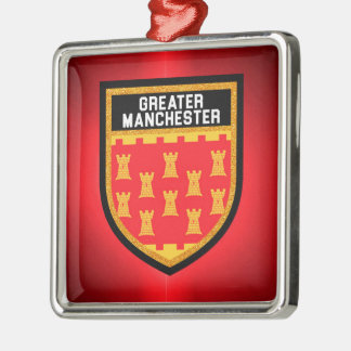 Greater Manchester Flag Metal Ornament