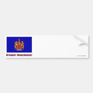 Greater Manchester Flag with Name Car Bumper Sticker